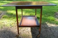 Oak Dropleaf Dinner Wagon Tea Trolley